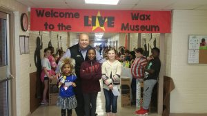 Mayor invited to the Black History Month living wax museum