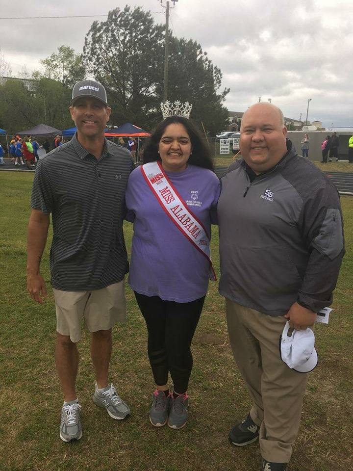 Mayor Copeland and Tim Hudson at the Lee County Special Olympics